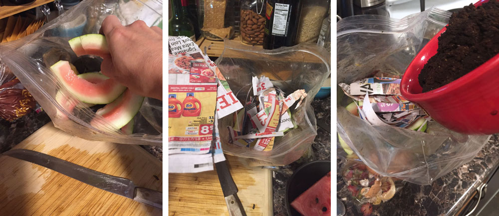 layer your scraps for composting