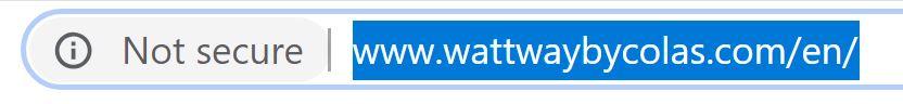 Wattway needs an SSL
