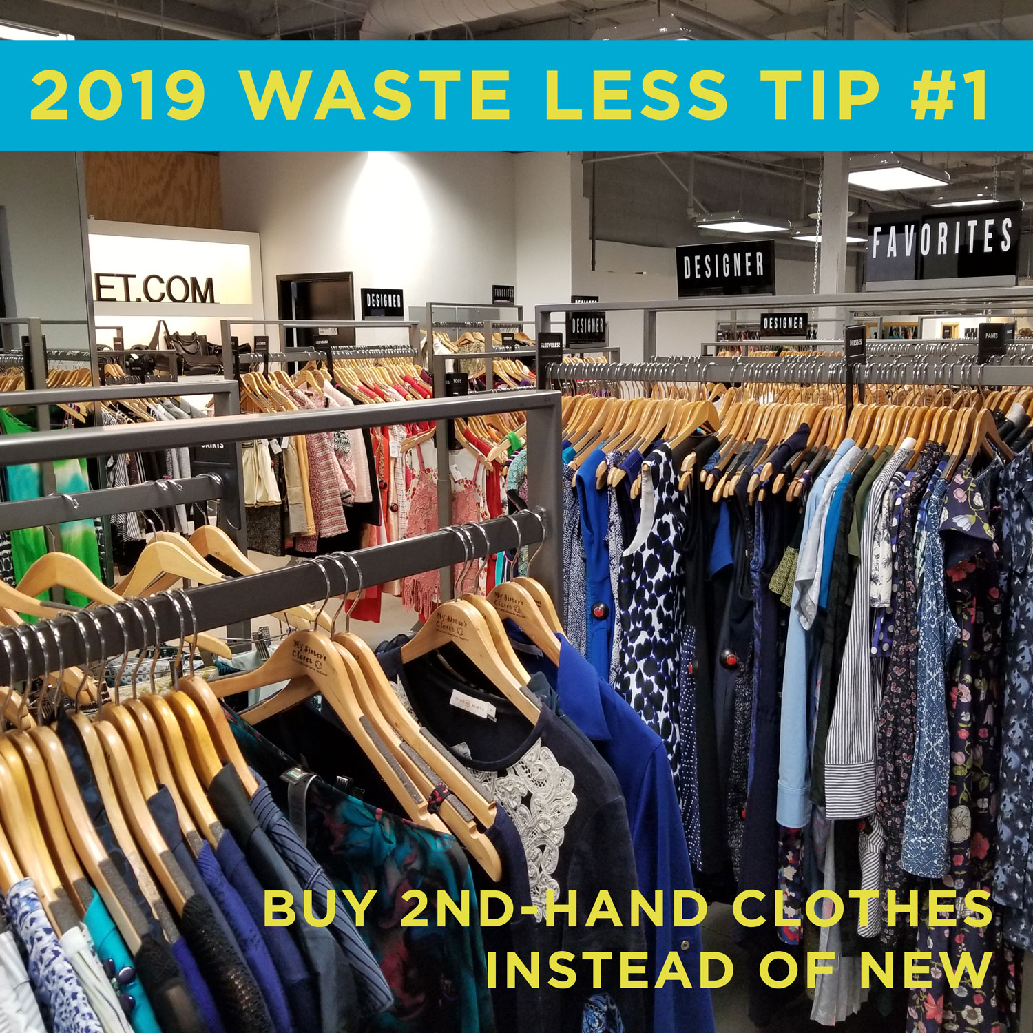 Environmentally friendly tip #1: Buy 2nd hand clothing instead of new