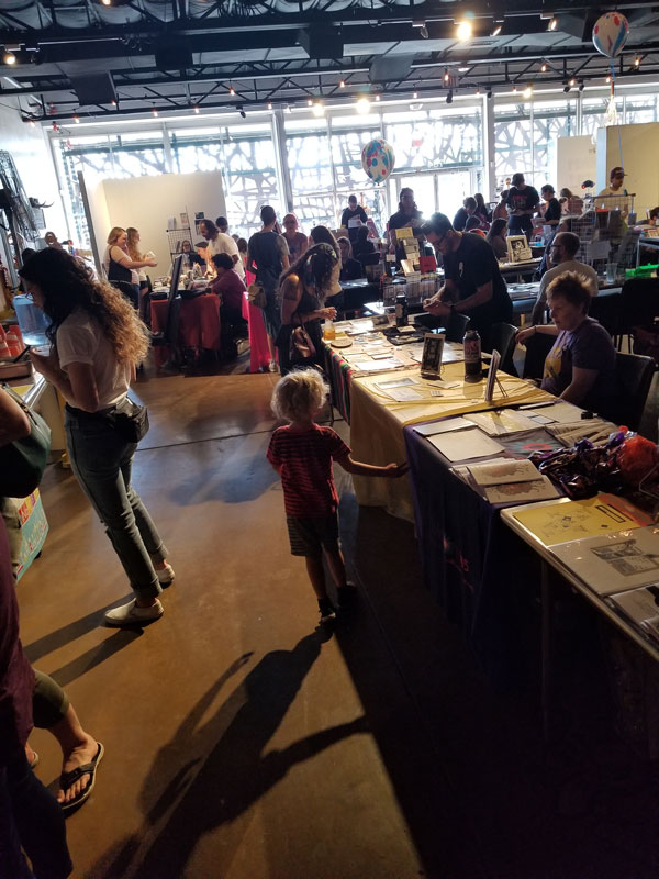 Zero waste sponsoring at the Phoenix Zine Fest
